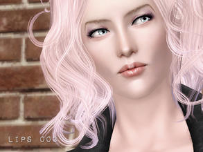 Sims 3 — Glossy 3 Channel Lips for tmf-emf by flinn — Handpainted glossy lip texture, available for both genders ages
