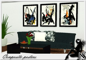 Sims 3 — Nea-CompositePaintings by Nea-005 — Modern Composite Abstract Paintings photo by Jean Miotte
