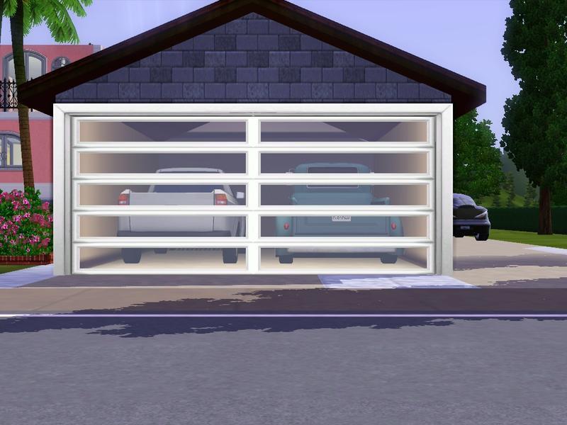 Manuke modern double garage for Sims 4 garage