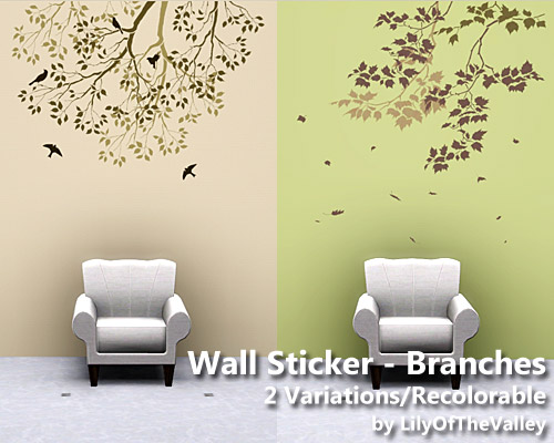 Wall sticker branches