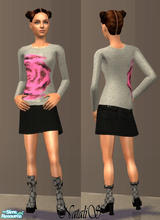 Sims 2 — NS teen set Moschino Cheap & Chic -item2. by Natalis —  Casual clothes for teenagers-original textures by