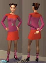 Sims 2 — NS teen set Moschino Cheap & Chic -item1. by Natalis —  Casual clothes for teenagers-original textures by