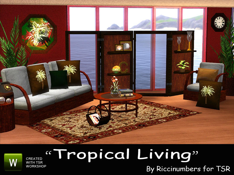 Thenumberswoman 39 s tropical living room for Tropical living room furniture