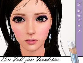 Sims 3 — Pure full face foundation  by steadyaccess — Pure full face foundation for males and females from teen to elder!
