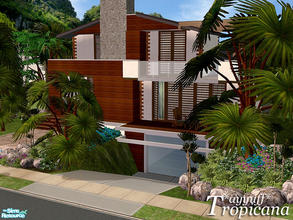 Sims 2 — Tropicana *Furnished* by ayyuff — 3x3 fully furnished house with underground garage,2