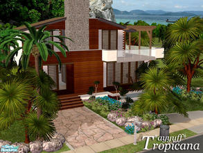 Sims 2 — Tropicana  by ayyuff — 3x3 unfurnished house with 2 bedrooms,2baths,kitchen,livingroom,underground garage and