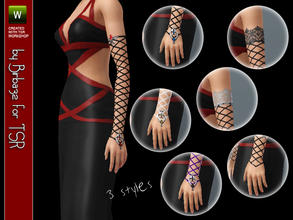 Sims 3 — Gothic gloves by Birba32 — If your sims love gothic outfits this is the perfect accessory for them =D 3