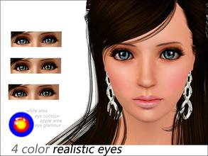 Sims 3 — 4 color realistic eyes  by steadyaccess — for males and females from toddler to elder!:)