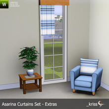 Sims 3 — Asarina Curtain Middle Length Left (moveable) by Kriss — Part of the Asarina Curtains Set - Extras. Can be moved