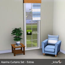 Sims 3 — Asarina Curtain Middle Length Right (moveable) by Kriss — Part of the Asarina Curtains Set - Extras. Can be