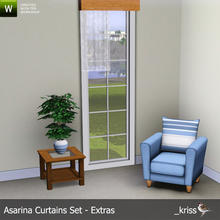 Sims 3 — Asarina Curtain Middle Left Sheer (moveable) by Kriss — Part of the Asarina Curtains Set - Extras. Can be moved