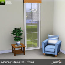 Sims 3 — Asarina Curtain Middle Right Sheer (moveable) by Kriss — Part of the Asarina Curtains Set - Extras. Can be moved