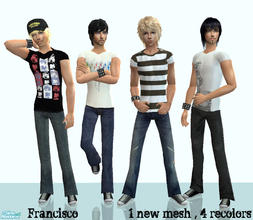 Sims 2 — Maleness - Collection 08 for Adult Males  by francisssko — 1 New mesh + 4 recolors , Enjoy ^_^
