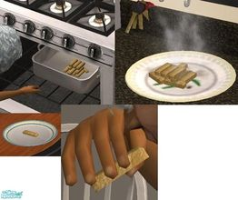 Sims 2 — Fishsticks by TheNinthWave — Fishsticks for your sims. Available for all 3 meals. Enjoy!