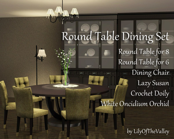 LilyOfTheValleys Round Table Dining Set : 1765558 from thesimsresource.com size 600 x 480 jpeg 85kB