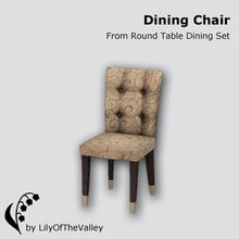 Sims 3 — Round Table Dining - Dining Chair by LilyOfTheValley — This comfortable tufted dining chair makes your dining