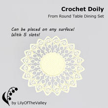 Sims 3 — Round Table Dining - Crochet Doily by LilyOfTheValley — Beautiful Crochet doily adds elegance to your room. The