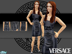 Sims 2 — Versace Fall Winter 2007 Part 2 by lemonloveshane — Three gorgeous black dresses designed by Donatella Versace