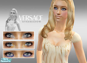 Sims 2 — Versace Dramatic Eyeshadows by lemonloveshane — A set of three gorgeous eyeshadows, as seen on Versace backstage