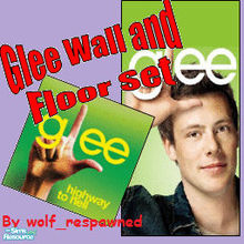 Sims 2 — Glee Green Wall and Floor Set by wolf_respawned2 — Set contains: ~Green Wallpaper with a Cory Monteith (Finn in