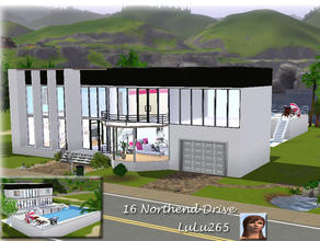 Sims 3 — 16 Northend Drive by Lulu265 — 16 Northend Drive is a large modern 4 bedroomed , 3 bathroom home which includes