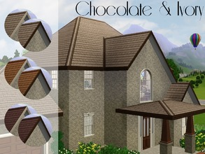 Sims 3 — Chocolate & Ivory by lilliebou — Hi ! This is a set of three basic roof colors: Deep brown, pale brown and