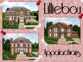 Sims 3 — Appalachians by lilliebou — Hi ! This is a set of three houses. First house : Roberts (Four bedrooms, two
