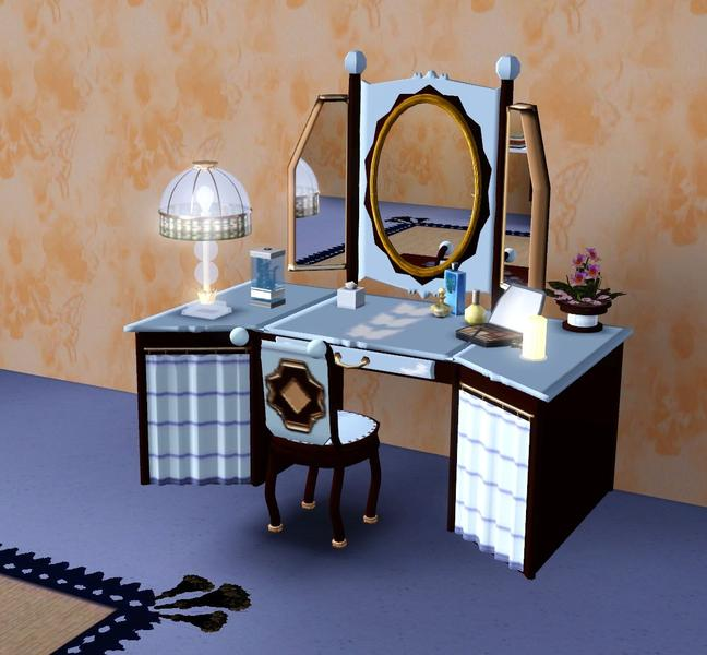 The Sims Resource Elegant Bathroom: Canelline's Once Upon A Time Bedroom Set-Dressing Table