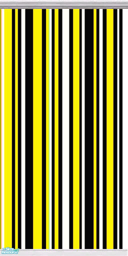 Gumby_Girl's Funky Stripes Wall Set 2 - Black Yellow White ...