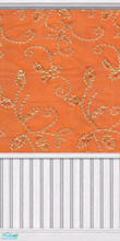 Sims 2 — Orange & Gold by Lil-Kiki — This Vibrant pattern will bring any room to life. Enjoy!