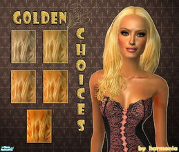 Sims 2 — Golden Choices -  MESH LINK UPDATE! by Harmonia — 5 wonderful blonde hairs