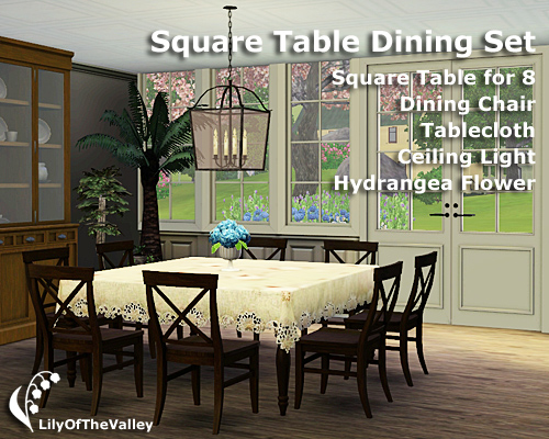 1 ... & LilyOfTheValley\u0027s Square Table Dining Set