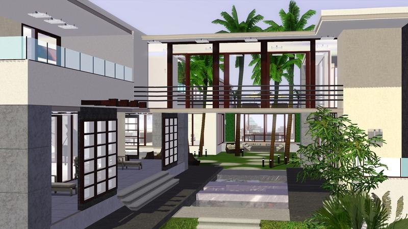 Sims 3 Modern Mansion Floor Plans: Liugao's Modern Mansion