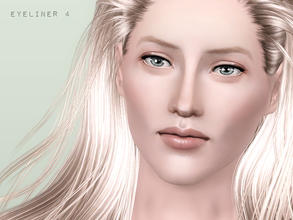 Sims 3 — Basic eyeliner with two channels by flinn — Two colourable channels in this clean and sophisticated eyeliner.