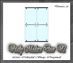 Sims 3 — Vitally Modern Door V2 by denizzo_ist — 12 New Meshes Vitally Modern Window and Door Set 2 Recolorable parts I