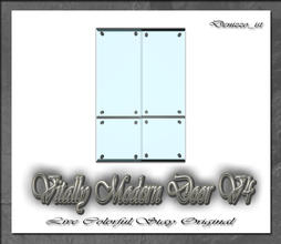 Sims 3 — Vitally Modern Door V4 by denizzo_ist — 12 New Meshes Vitally Modern Window and Door Set 2 Recolorable parts I