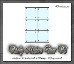 Sims 3 — Vitally Modern Door V3 by denizzo_ist — 12 New Meshes Vitally Modern Window and Door Set 2 Recolorable parts I