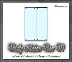 Sims 3 — Vitally Modern Door V1 by denizzo_ist — 12 New Meshes Vitally Modern Window and Door Set 2 Recolorable parts I