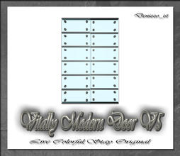 Sims 3 — Vitally Modern Door V5 by denizzo_ist — 12 New Meshes Vitally Modern Window and Door Set 2 Recolorable parts I