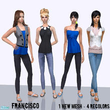 Sims 2 — Soul - Collection 16 for Adult Females by francisssko — 1 New mesh included + 4 recolors , Enjoy ;P
