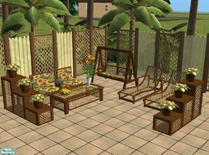 Sims 2 — Outdoorset Orlando Darkwood by marilu — Recolor from Outdoorset Orlando