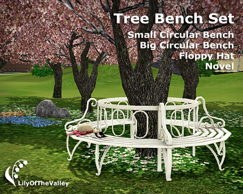 Lilyofthevalley S Tree Bench Set