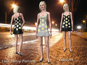 Sims 3 — Lulu 3 colour flowers  by Lulu265 — Lulu 3 colour flowers a lovely flower pattern fully recolourable to use on