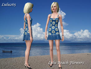 Sims 3 — Lulu Beach Flowers  by Lulu265 — Lulu Beach Flowers fully recolourable two tone flowers for use on anything