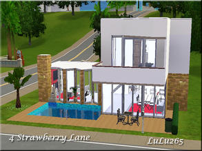 Sims 3 — 4 Strawberry lane by Lulu265 — 4 Strawberry lane is a tiny house built for a single sim or newly married couple.