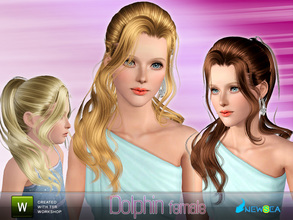 Sims 3 — Newsea Dolphin Female Hairstyle by newsea — This hairstyle is for female. Works for all ages. All morph states