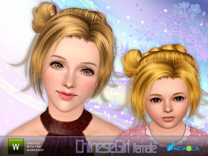 Sims 3 — Newsea ChineseGirl Female Hairstyle by newsea — This hairstyle is for female. Works for all ages except elder.