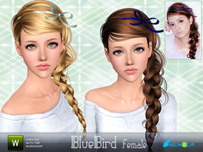 Sims 3 — Newsea BlueBird Female Hairstyle by newsea — This hairstyle is for female. Works for all ages except toddler.