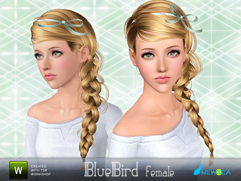 Newsea bluebird female hairstyle.