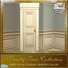 Sims 2 — Vanity Fair Drawing Room Collection - Door Diagonal Mesh by Cashcraft —